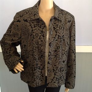Evan Picone Floral long sleeved Blazer size 16w